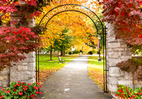 Dickinson Archway in Autumn-2